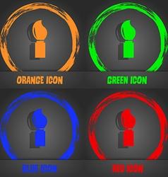 Paint brush sign icon artist symbol fashionable vector
