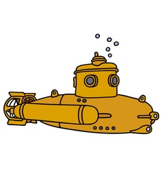 Yellow small submarine vector