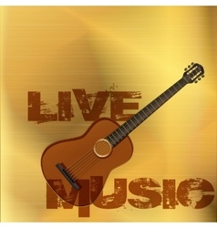 Live music guitar gold vector