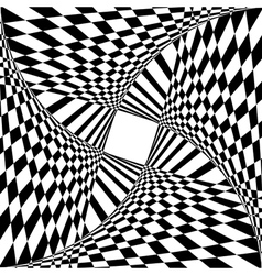 optical illusion effect vector image