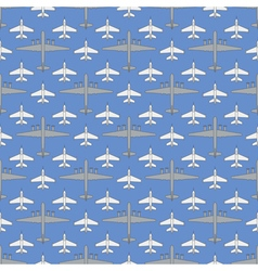 Seamless pattern with military airplanes 03 vector