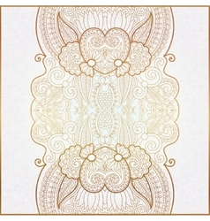 Elegant floral ornamental background golden decor vector