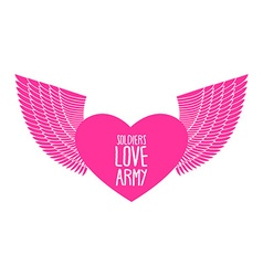 Army soldier of love funny military logo emblem vector