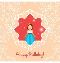 Beautiful cartoon princess vector image