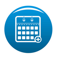 calendar deadline icon blue vector image