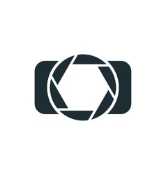 Camera simple concept logo vector