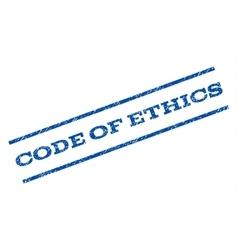 Code of ethics watermark stamp vector