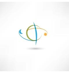 earth symbol color vector image vector image