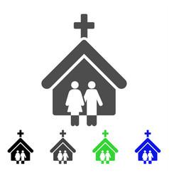 Family church icon vector