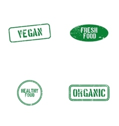 Healthy food labels vector image vector image