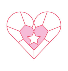 jewelry heart star pendant luxury fantasy vector image
