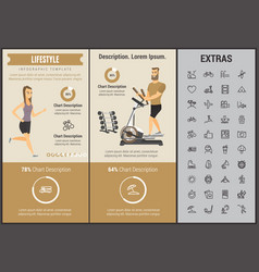 lifestyle infographic template elements and icons vector image vector image