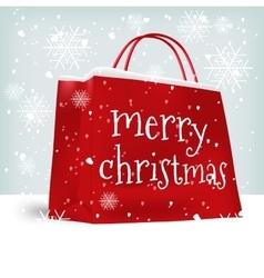 Merry christmas shopping bag vector