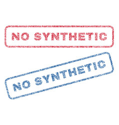 no synthetic textile stamps vector image