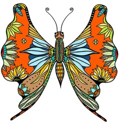 ornate zentangle butterfly vector image