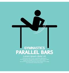 Parallel bars gymnastics vector