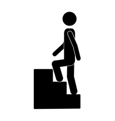 Person up the stairs vector