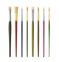 Realistic artist paintbrushes set paint brush set vector