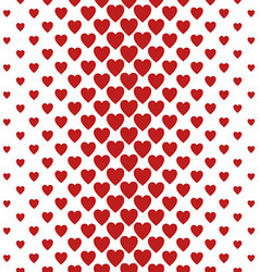 Red vertical heart pattern background design vector
