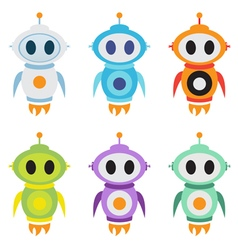 Robot rocket mascot logo cute robot character vector