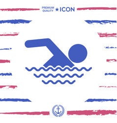 swim icon vector image vector image
