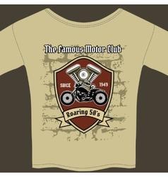 T-shirt design for a Motorcycle workshop vector image vector image