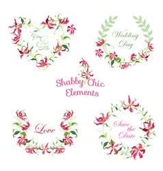 Tropical Flower Banners and Tags vector image