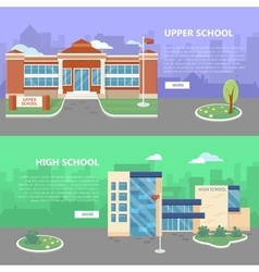 Upper and high school web banners vector