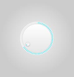 User interface control grey web element circle vector