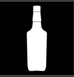 whisky white color icon vector image vector image