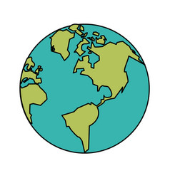 White background with planet earth vector