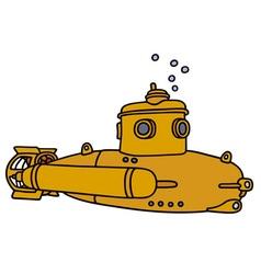 Yellow small submarine vector