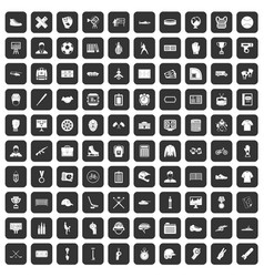 100 mens team icons set black vector