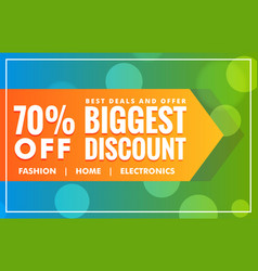 biggest sale discount banner deisgn template vector image