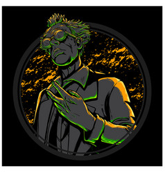 mad scientist vector image