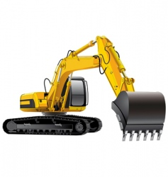 power excavator vector image