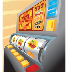 Slot machine illustration vector
