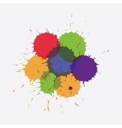 colorful splashe vector image