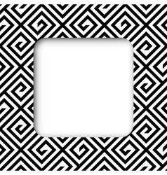 Abstract black and white zigzag frame banner vector