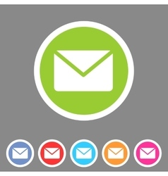 Mail post envelope icon flat web sign symbol logo vector