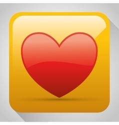 Heart shape graphic icon vector