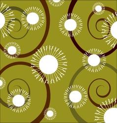 Swirl flowers background vector