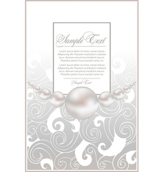 Background pearls vector