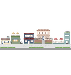 Cafe street flat background vector