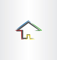 Home icon real estate sign house symbol vector
