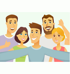 A group of friends - cartoon people character vector
