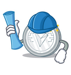Architect tron coin character cartoon vector