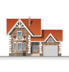 Beautiful brick house vector image