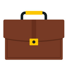 Brown business briefcase icon isolated vector