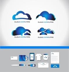 Cloud computing technology logo vector
